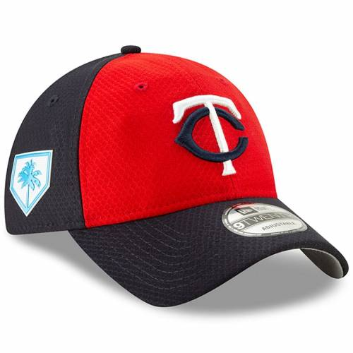 ニューエラ NEW ERA ミネソタ ツインズ スプリング トレーニング バッグ キャップ 帽子 メンズキャップ メンズ 【 Minnesota Twins 2019 Spring Training 9twenty Adjustable Hat - Red/navy 】 Red/navy