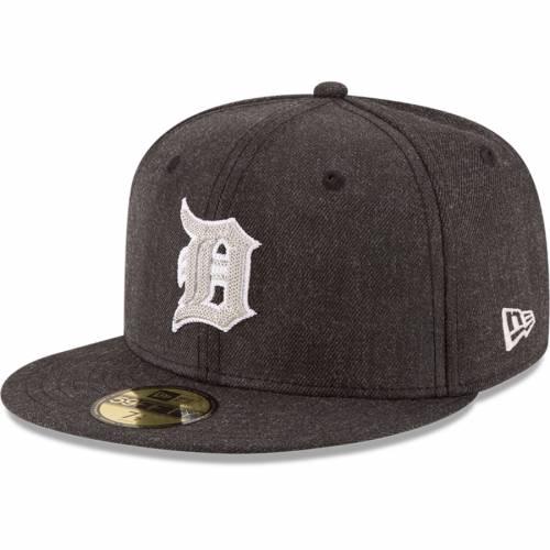 ニューエラ NEW ERA デトロイト タイガース 黒 ブラック バッグ キャップ 帽子 メンズキャップ メンズ 【 Detroit Tigers Crisp 59fifty Fitted Hat - Heathered Black 】 Heathered Black