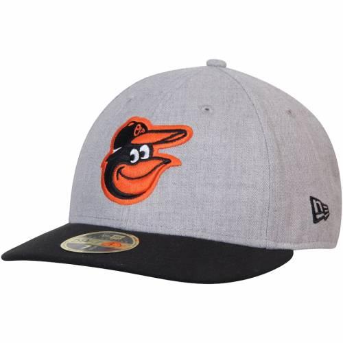 ニューエラ NEW ERA ボルティモア オリオールズ バッグ キャップ 帽子 メンズキャップ メンズ 【 Baltimore Orioles Change Up Low Profile 59fifty Fitted Hat - Heathered Gray/black 】 Heathered Gray/black