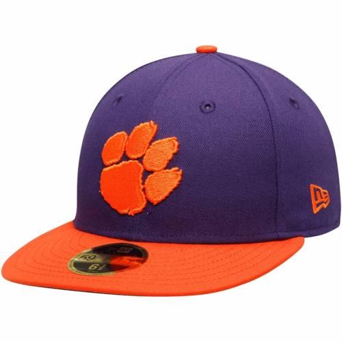 ニューエラ NEW ERA タイガース 橙 オレンジ バッグ キャップ 帽子 メンズキャップ メンズ 【 Clemson Tigers Basic Low Profile 59fifty Fitted Hat - Orange 】 Purple