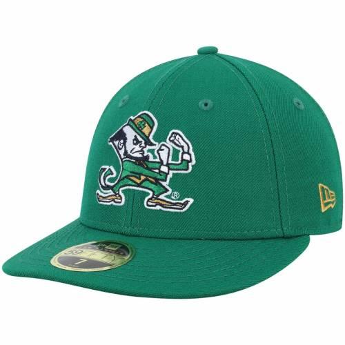 ニューエラ NEW ERA 紺 ネイビー バッグ キャップ 帽子 メンズキャップ メンズ 【 Notre Dame Fighting Irish Basic Low Profile 59fifty Fitted Hat - Navy 】 Kelly Green
