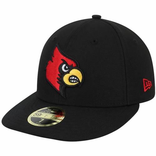 ニューエラ NEW ERA ルイビル カーディナルス 黒 ブラック バッグ キャップ 帽子 メンズキャップ メンズ 【 Louisville Cardinals Basic Low Profile 59fifty Fitted Hat - Black 】 Black