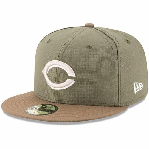 ニューエラ NEW ERA シンシナティ レッズ オーセンティック コレクション バッグ キャップ 帽子 メンズキャップ メンズ 【 Cincinnati Reds Alternate 2 Authentic Collection On-field 59fifty Fitted Hat - Olive/