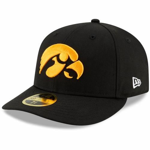 ニューエラ NEW ERA 黒 ブラック バッグ キャップ 帽子 メンズキャップ メンズ 【 Iowa Hawkeyes Basic Low Profile 59fifty Fitted Hat - Black 】 Black
