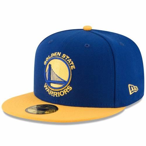 ニューエラ NEW ERA スケートボード ウォリアーズ チーム バッグ キャップ 帽子 メンズキャップ メンズ 【 Golden State Warriors Official Team Color 2tone 59fifty Fitted Hat - Royal/gold 】 Royal/gold