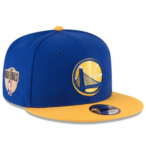 ニューエラ NEW ERA スケートボード ウォリアーズ スナップバック バッグ キャップ 帽子 メンズキャップ メンズ 【 Golden State Warriors 2018 Western Conference Champions Side Patch Two-tone 9fifty Snapback Adj