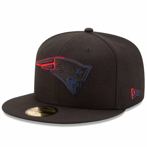 ニューエラ NEW ERA ペイトリオッツ 黒 ブラック バッグ キャップ 帽子 メンズキャップ メンズ 【 New England Patriots Color Dim 59fifty Fitted Hat - Black 】 Black