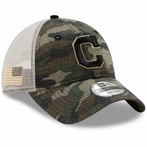 ニューエラ NEW ERA クリーブランド インディアンズ トラッカー バッグ キャップ 帽子 メンズキャップ メンズ 【 Cleveland Indians Honor Trucker 9twenty Adjustable Hat - Camo 】 Camo