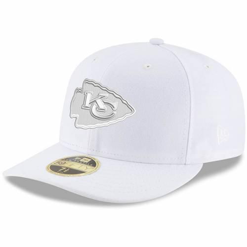 ニューエラ NEW ERA カンザス シティ チーフス 白 ホワイト バッグ キャップ 帽子 メンズキャップ メンズ 【 Kansas City Chiefs White On White Low Profile 59fifty Fitted Hat 】 Color