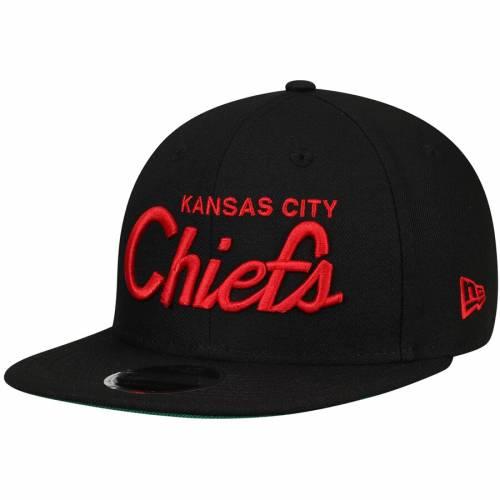 ニューエラ NEW ERA カンザス シティ チーフス 黒 ブラック バッグ キャップ 帽子 メンズキャップ メンズ 【 Kansas City Chiefs Griswold 9fifty Adjustable Hat - Black 】 Black