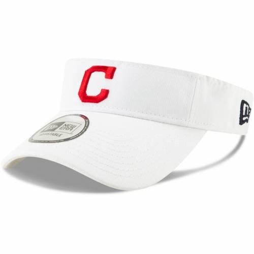 ニューエラ NEW ERA クリーブランド インディアンズ 紺 ネイビー バッグ キャップ 帽子 メンズキャップ メンズ 【 Cleveland Indians Dugout Redux 2 Visor - Navy 】 White