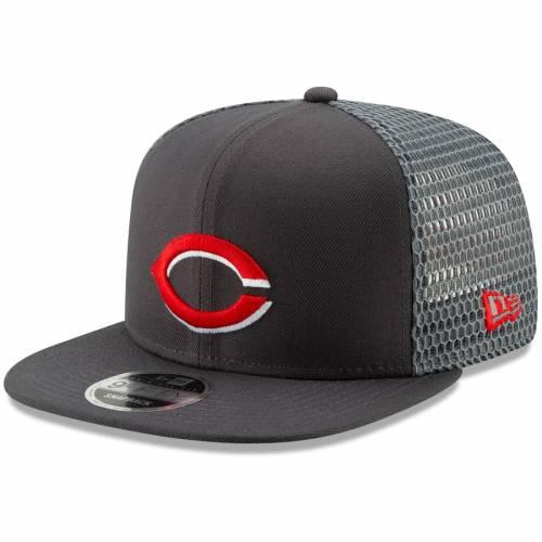 ニューエラ NEW ERA シンシナティ レッズ フレッシュ スナップバック バッグ キャップ 帽子 メンズキャップ メンズ 【 Cincinnati Reds Mesh Fresh 9fifty Adjustable Snapback Hat - Graphite 】 Graphite