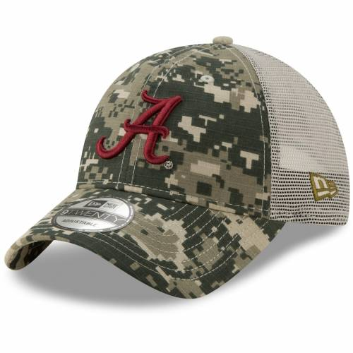 ニューエラ NEW ERA アラバマ トラッカー バッグ キャップ 帽子 メンズキャップ メンズ 【 Alabama Crimson Tide Digi 9twenty Adjustable Trucker Hat - Camo 】 Camo