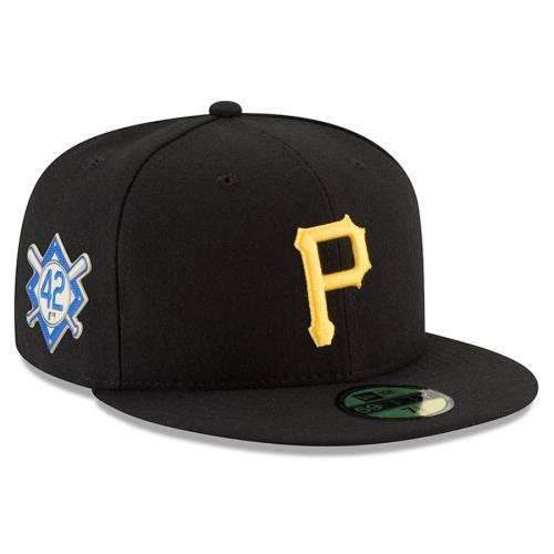 ニューエラ NEW ERA ピッツバーグ 海賊団 黒 ブラック 【 BLACK NEW ERA PITTSBURGH PIRATES JACKIE ROBINSON DAY 59FIFTY FITTED HAT 】 バッグ  キャップ 帽子 メンズキャップ 帽子