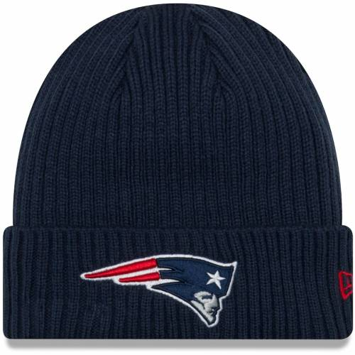 ニューエラ NEW ERA ペイトリオッツ チーム コア クラシック ニット 紺 ネイビー バッグ キャップ 帽子 メンズキャップ メンズ 【 New England Patriots Team Core Classic Cuffed Knit Hat - Navy 】 Navy