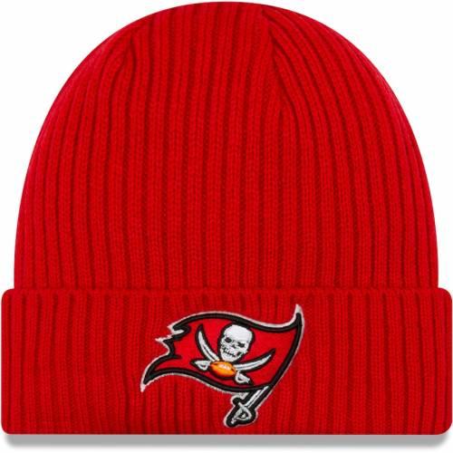 ニューエラ NEW ERA バッカニアーズ コア クラシック ニット 赤 レッド 【 NFL RED NEW ERA TAMPA BAY BUCCANEERS CORE CLASSIC CUFFED KNIT HAT 】 バッグ  キャップ 帽子 メンズキャップ 帽子