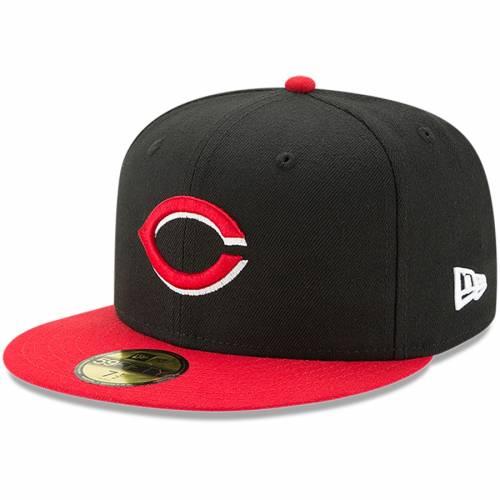 ニューエラ NEW ERA シンシナティ レッズ オーセンティック コレクション バッグ キャップ 帽子 メンズキャップ メンズ 【 Cincinnati Reds Alternate Authentic Collection On-field 59fifty Fitted Hat - Black/re