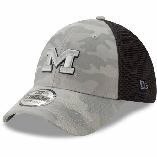 ニューエラ NEW ERA ミシガン ネオ 灰色 グレー グレイ バッグ キャップ 帽子 メンズキャップ メンズ 【 Michigan Wolverines Camo Neo Front 39thirty Flex Hat - Gray 】 Gray