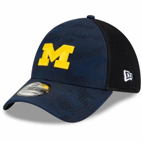 ニューエラ NEW ERA ミシガン ネオ 灰色 グレー グレイ バッグ キャップ 帽子 メンズキャップ メンズ 【 Michigan Wolverines Camo Neo Front 39thirty Flex Hat - Gray 】 Navy