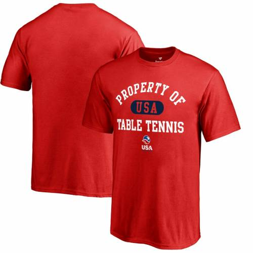 FANATICS BRANDED テニス 子供用 Tシャツ 赤 レッド キッズ ベビー マタニティ トップス ジュニア 【 Usa Table Tennis Youth Property Of T-shirt - Red 】 Red