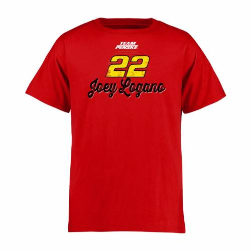 FANATICS BRANDED 子供用 Tシャツ 赤 レッド キッズ ベビー マタニティ トップス ジュニア 【 Joey Logano Youth Race Day T-shirt - Red 】 Red