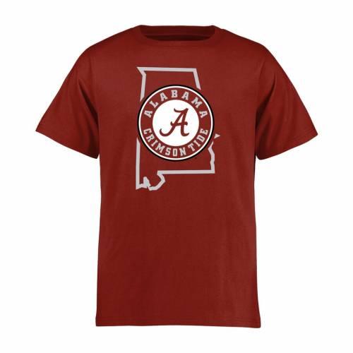 FANATICS BRANDED アラバマ 子供用 スケートボード Tシャツ キッズ ベビー マタニティ トップス ジュニア 【 Alabama Crimson Tide Youth Tradition State T-shirt - Crimson 】 Crimson