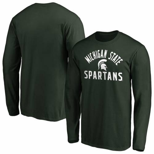 FANATICS BRANDED ミシガン スケートボード チーム スリーブ Tシャツ 緑 グリーン メンズファッション トップス カットソー メンズ 【 Michigan State Spartans Big And Tall Team Pride Long Sleeve T-shirt - Gree