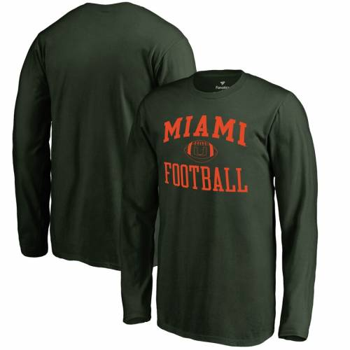 FANATICS BRANDED マイアミ 子供用 スリーブ Tシャツ 緑 グリーン キッズ ベビー マタニティ トップス ジュニア 【 Miami Hurricanes Youth First Sprint Long Sleeve T-shirt - Green 】 Green
