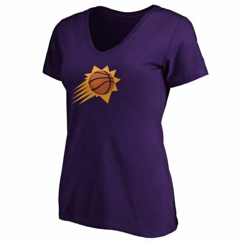 FANATICS BRANDED フェニックス サンズ レディース ブイネック Tシャツ 紫 パープル WOMEN'SPURPLE FANATICS BRANDED DEVIN BOOKER PHOENIX SUNS PLUS SIZE PLAYMAKER NAME NUMBER VNECK TSHIRTレディースファッ5R34AjL