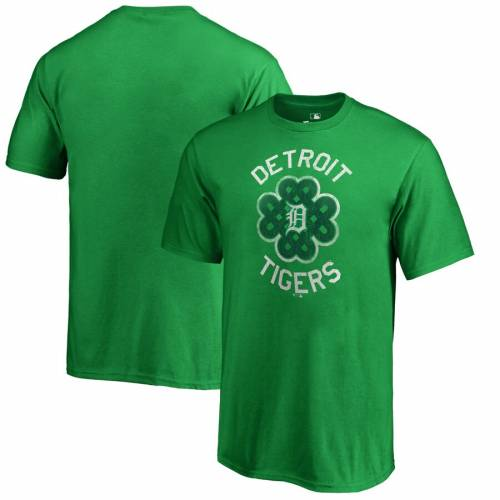 FANATICS BRANDED デトロイト タイガース 子供用 Tシャツ 緑 グリーン St. キッズ ベビー マタニティ トップス ジュニア 【 Detroit Tigers Youth St. Patricks Day Luck Tradition T-shirt - Kelly Green 】 Kelly Green