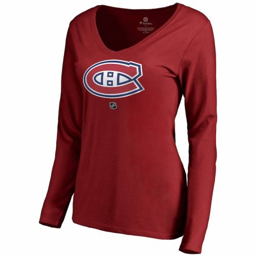 FANATICS BRANDED レディース チーム オーセンティック スリーブ ブイネック Tシャツ 赤 レッドCUSTOMIZED ITEMWOMEN'STEAM SLEEVE RED FANATICS BRANDED MONTREAL CANADIENS PERSONALIZED AUTHENTIC LONG VNECK TSHIRTUzMpGqVS
