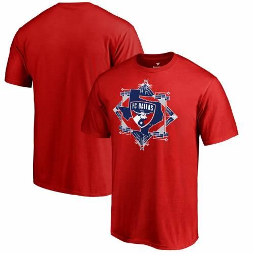 FANATICS BRANDED ダラス スケートボード Tシャツ 赤 レッド メンズファッション トップス カットソー メンズ 【 Fc Dallas State Frame T-shirt - Red 】 Red