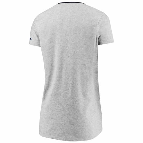 FANATICS BRANDED ヒューストン アストロズ レディース ディープ ブイネック Tシャツ 灰色 グレー グレイ W