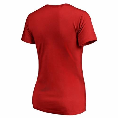 FANATICS BRANDED フロリダ パンサーズ レディース ロゴ ブイネック Tシャツ WOMEN'S 【 FLORIDA PANTHERS STATIC LOGO VNECK TSHIRT RED 】 レディースファッション トップス カットソー 送料無料