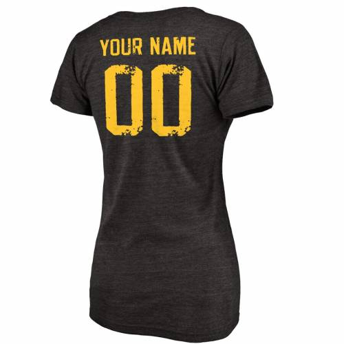 FANATICS BRANDED イーグルス レディース バスケットボール ブイネック Tシャツ [CUSTOMIZED ITEM] WOMEN'S 【 SOUTHERN MISS GOLDEN EAGLES PERSONALIZED DISTRESSED BASKETBALL TRIBLEND VNECK TSHIRT BLACK 】 レディースファッ