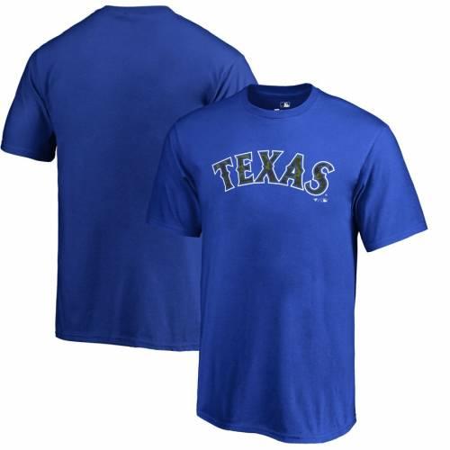FANATICS BRANDED テキサス レンジャーズ 子供用 Tシャツ キッズ ベビー マタニティ トップス ジュニア 【 Texas Rangers Youth Armed Forces Wordmark T-shirt - Royal 】 Royal