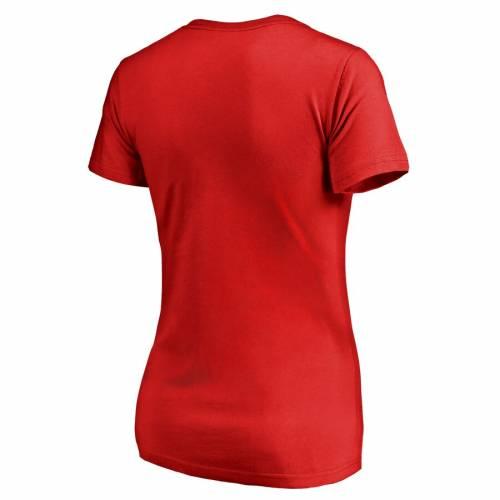 FANATICS BRANDED ウィスコンシン レディース チーム Tシャツ WOMEN'S 【 TEAM WISCONSIN BADGERS PLUS SIZES MOM TSHIRT RED 】 レディースファッション トップス カットソー 送料無料