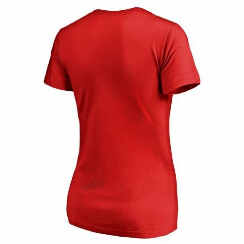 FANATICS BRANDED ワシントン ナショナルズ レディース Tシャツ WOMEN'S 【 WASHINGTON NATIONALS LIVE FOR IT TSHIRT RED 】 レディースファッション トップス カットソー 送料無料