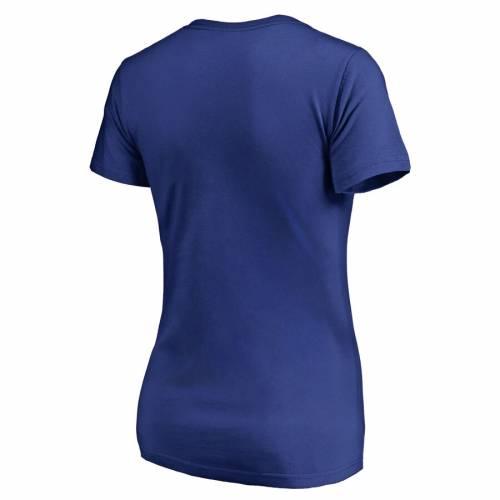 FANATICS BRANDED ドジャース レディース ロゴ ブイネック Tシャツ WOMEN'S 【 LOS ANGELES DODGERS SPLATTER LOGO VNECK TSHIRT ROYAL 】 レディースファッション トップス カットソー 送料無料