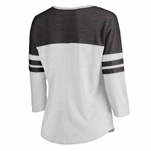 スポーツブランド カジュアル ファッション ファナティクス FANATICS 直営ストア BRANDED ピッツバーグ 百貨店 ペンギンズ レディース フリー Tシャツ 白色 ホワイト 黒色 4SLEEVE TRIBLEND BLACK SIZE LINE 3 PLUS ブラック COLOR TSHIRT WOMEN'S BLOCK FREE WHITE