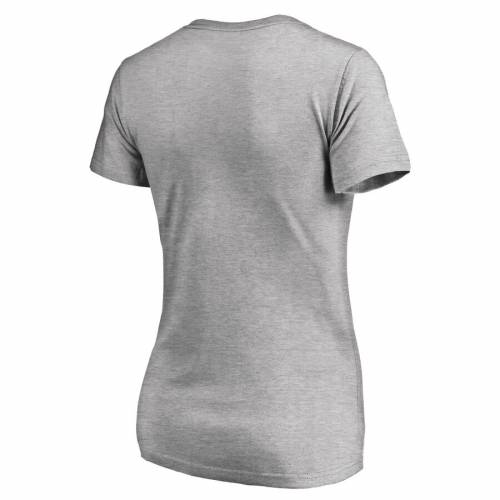 FANATICS BRANDED インパクト レディース ロゴ ブイネック Tシャツ WOMEN'S 【 MONTREAL IMPACT PRIMARY LOGO VNECK TSHIRT HEATHERED GRAY 】 レディースファッション トップス カットソー 送料無料