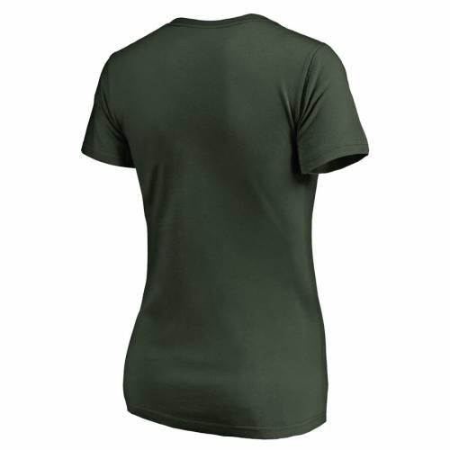 FANATICS BRANDED ミネソタ ワイルド レディース ブイネック Tシャツ WOMEN'S 【 WILD MINNESOTA PLUS SIZE GRACEFUL VNECK TSHIRT GREEN 】 レディースファッション トップス カットソー 送料無料