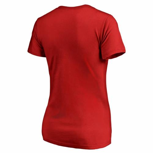 FANATICS BRANDED シンシナティ レッズ レディース ロゴ ブイネック Tシャツ WOMEN'S 【 CINCINNATI REDS STATIC LOGO VNECK TSHIRT RED 】 レディースファッション トップス カットソー 送料無料