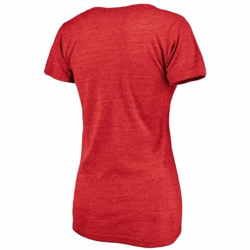 FANATICS BRANDED シンシナティ レッズ レディース ブイネック Tシャツ WOMEN'S 【 CINCINNATI REDS HOMETOWN TRIBLEND VNECK TSHIRT RED 】 レディースファッション トップス カットソー 送料無料