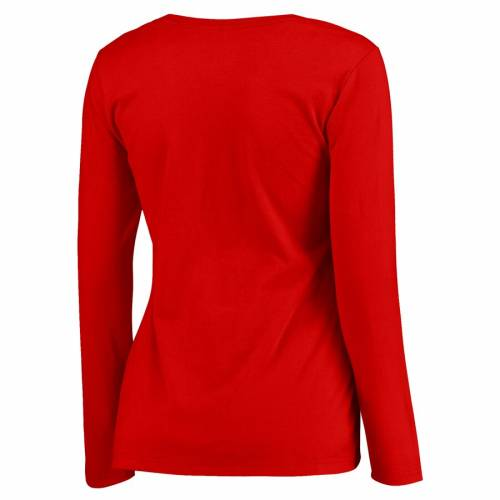 FANATICS BRANDED シンシナティ レッズ レディース スリーブ Tシャツ WOMEN'S 【 SLEEVE CINCINNATI REDS LIVE FOR IT PLUS SIZE LONG TSHIRT RED 】 レディースファッション トップス カットソー 送料無料