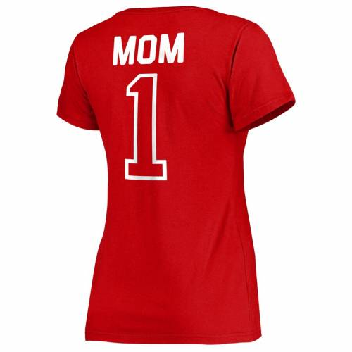 FANATICS BRANDED シンシナティ レッズ レディース ブイネック Tシャツ WOMEN'S MOTHER'S #1 【 CINCINNATI REDS 2019 DAY MOM VNECK TSHIRT RED 】 レディースファッション トップス カットソー 送料無料