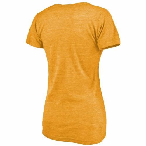 FANATICS BRANDED レイカーズ レディース エアー ブイネック Tシャツ WOMEN'S 【 LAKERS AIR LOS ANGELES TRIBLEND VNECK TSHIRT GOLD 】 レディースファッション トップス カットソー 送料無料