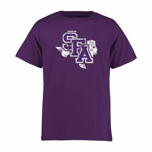 FANATICS BRANDED ステファン 子供用 クラシック Tシャツ 紫 パープル キッズ ベビー マタニティ トップス ジュニア 【 Stephen F Austin Lumberjacks Youth Classic Primary T-shirt - Purple 】 Purple