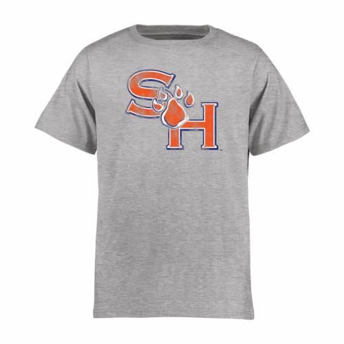 FANATICS BRANDED ヒューストン スケートボード 子供用 クラシック Tシャツ キッズ ベビー マタニティ トップス ジュニア 【 Sam Houston State Bearkats Youth Classic Primary T-shirt - Ash 】 Ash
