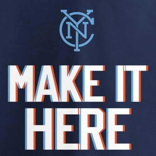 FANATICS BRANDED シティ レディース チーム ブイネック Tシャツ WOMEN'S 【 TEAM NEW YORK CITY FC 2019 MLS CUP PLAYOFFS BOUND SLOGAN VNECK TSHIRT NAVY 】 レディースファッション トップス カットソー 送料無料